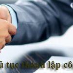 Thủ tục thành lập công ty nhanh