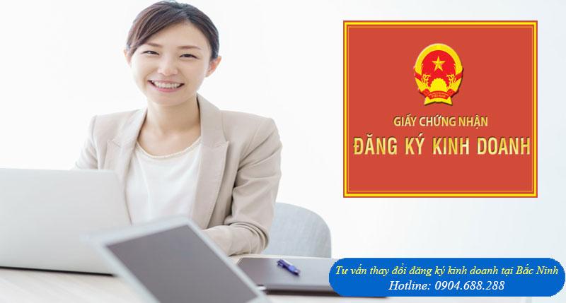 Tư vấn thay đổi đăng ký kinh doanh tại Bắc Ninh