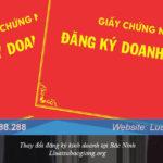 Thay đổi đăng ký kinh doanh tại Bắc Ninh