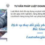 Dịch vụ thay đổi giấy phép kinh doanh tại Bắc Giang